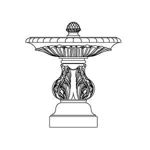 Fountain - Large Single