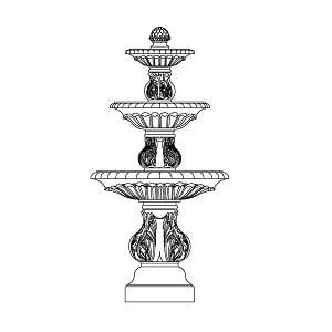 Fountain - Triple Bowl