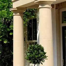 columns pillars acanthus cast stone
