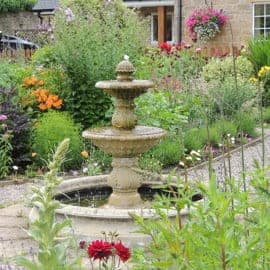 fountain pool surrounds acanthus cast stone