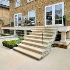 treads risers acanthus cast stone