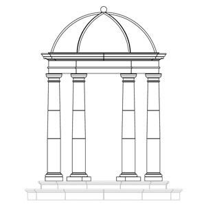 Cast-Stone-Doric-Temple