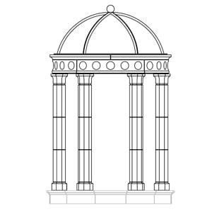 Cast-Stone-Gothic-Temple