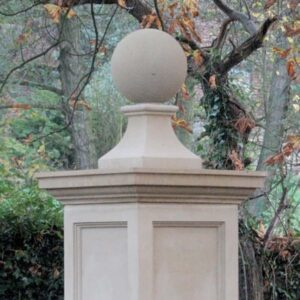 FN2-Ball-and-Base---230mm-Diameter-Acanthus-Cast-Stone
