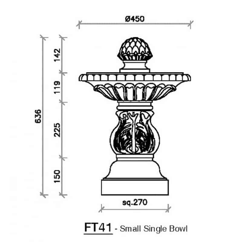 FT41-Small-Single-Bowl-Fountain-1-Acanthus-Cast-Stone