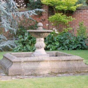 FT42-Medium-Single-Bowl-Fountain-Acanthus-Cast-Stone