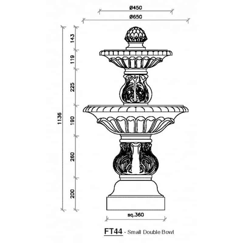 FT44-Small-Double-Bowl-Fountain-2-Acanthus-Cast-Stone