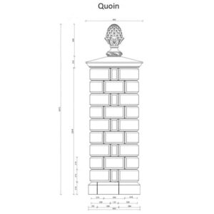 GPQ-Quoin-Gate-Pillar-with-FN6-Pineapple-and-Base-Acanthus-Cast-Stone