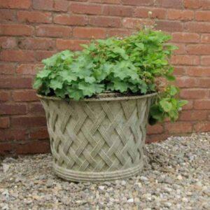 JD110-Small-Basket-Weave-Jardiniere-cast-stone-planter-acanthus-cast-stone