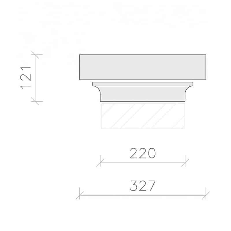 PC1043-Plain-Flat-Top-Plus-Flush-Base-Acanthus-Cast-Stone