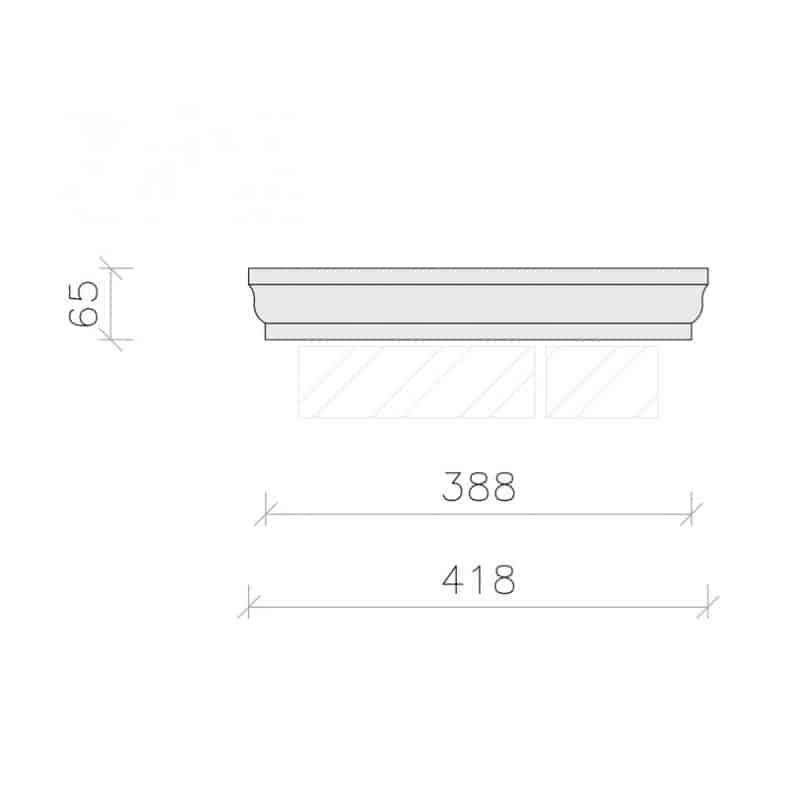 PC1514-Moulded-Flat-Top-Pier-Cap-Acanthus-Cast-Stone