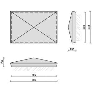 PC30-20R-Moulded-Apex-Rectangular-Pier-Cap-Acanthus-Cast-Stone