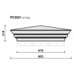 PC3021-Moulded-Apex-Plus-Flush-Base-Pier-Cap-Acanthus-Cast-Stone