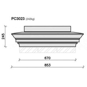 PC3023-Moulded-Apex-Plus-Pier-Block-and-Flush-Base-Pier-Cap-Acanthus-Cast-Stone