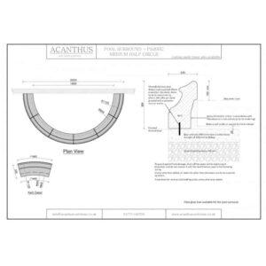 PS20HC-Medium-Semi-Circle-Pool-Surround-Set---1800mm-Internal-Diameter-Acanthus-Cast-Stone