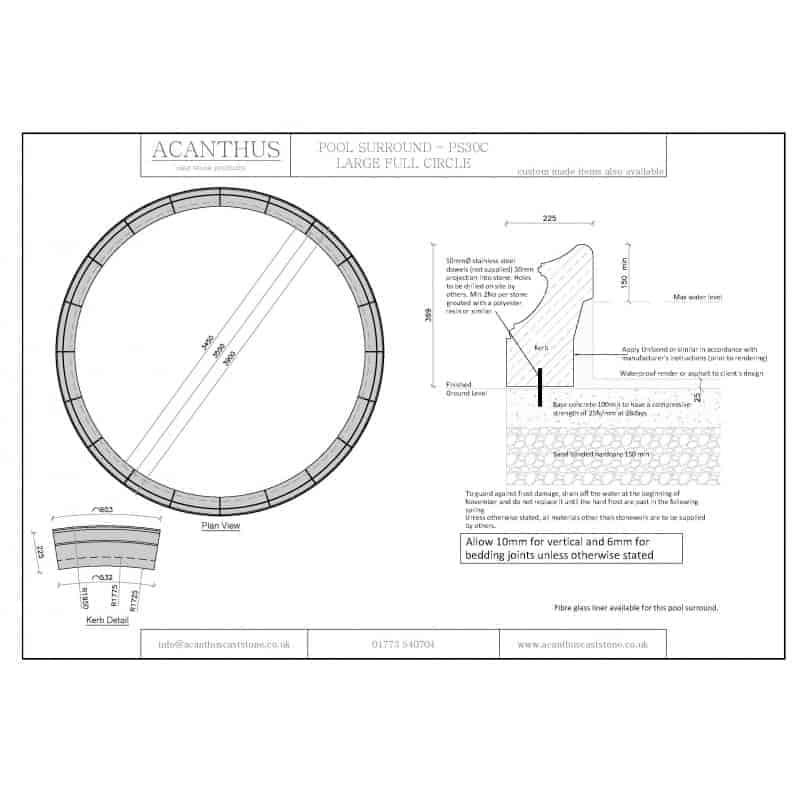 PS30C-Large-Circular-Pool-Surround-Set---3450mm-Internal-Diameter-Acanthus-Cast-Stone