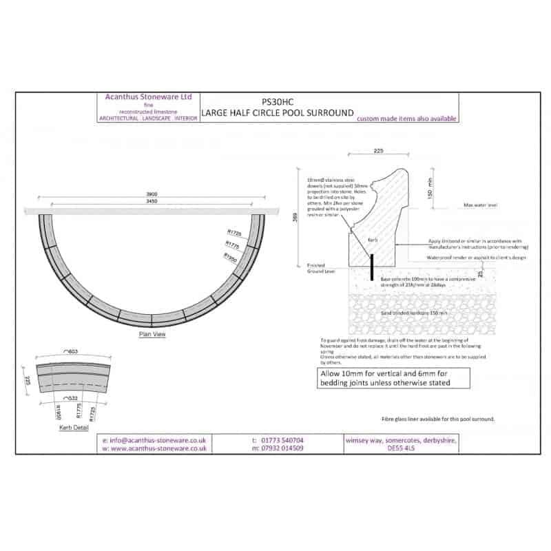 PS30HC-Large-Semi-Circle-Pool-Surround-Set---3450mm-Internal-Diameter-Acanthus-Cast-Stone