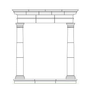 PT1 cast stone portico