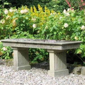 ST10-Portland-Seat-with-Fluted-Legs-Acanthus-Cast-Stone