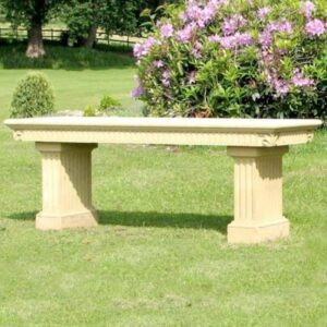 ST20-Acanthus-Seat-with-Fluted-Legs-Acanthus-Cast-Stone