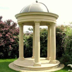 TP1-DM1-Doric-Cast-Stone-Temple-including-lead-effect-dome-Acanthus-Cast-Stone