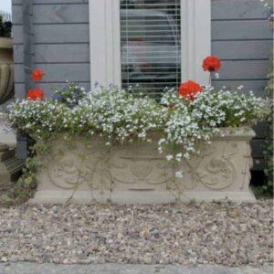 TR300-Florentine-cast-stone-Trough-acanthus-cast-stone