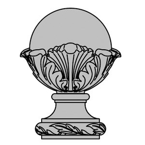 cast-stone-Finial-drawing-acanthus-cast-stone